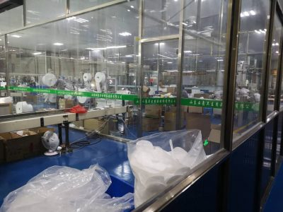 Fabriek productie mondmaskers